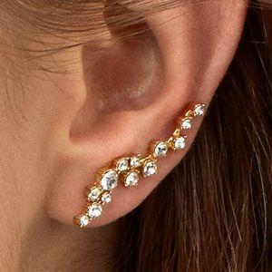 Baublebar Farrah Gold Tone Ear Crawlers Earrings